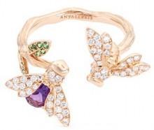 Anyallerie 'Bumble Bee' diamond gemstone 18k rose gold open ring