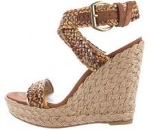 Stuart Weitzman Gilt Alex Platform Wedge Sandals