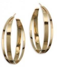 LANA JEWELRY 15-Year Anniversary Small Double Crisscross Hoop Earrings/1.5