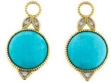 Jude Frances 18K Turquoise & Diamond Earring Charms