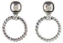 Givenchy Textured Circle Drop Earrings