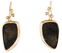 14K Druzy & Diamond Earrings