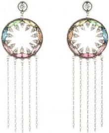 Dannijo Accessories Zahra Crystal Statement Earrings