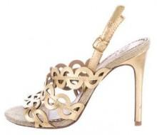 Tory Burch Metallic Laser Cut Sandals