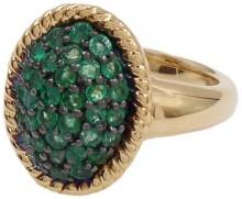 Savvy Cie 18K Yellow Gold Vermeil Faceted Emerald Ring
