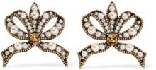 Gucci - Gold-tone Faux Pearl Earrings - Brass